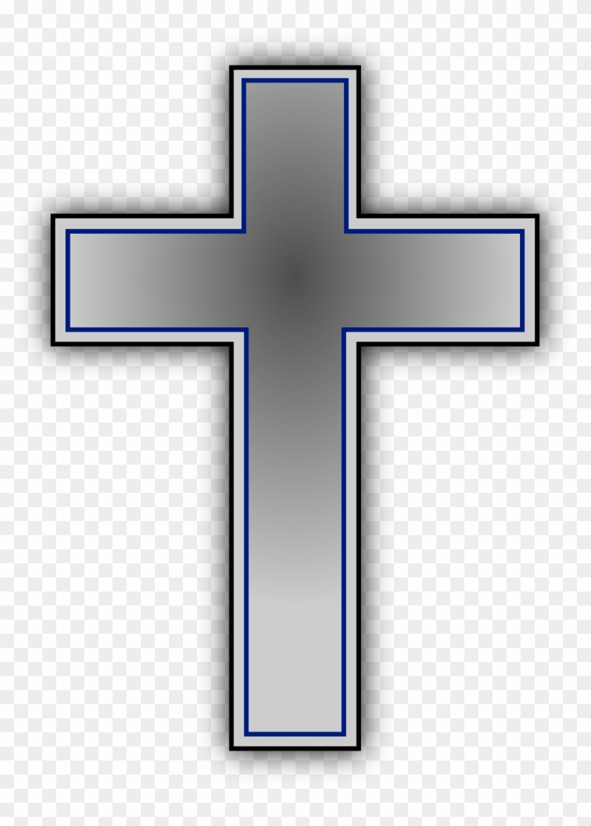 Viewing Gallery For Black And White Cross Clip Art - Cross With Transparent Background #207819