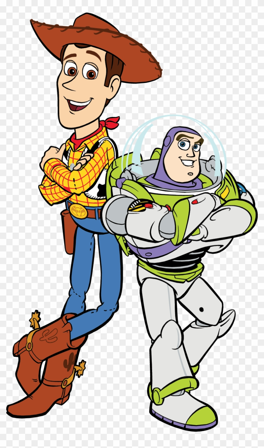 Cute Toy Story Clip Art Medium Size - Woody And Buzz ...