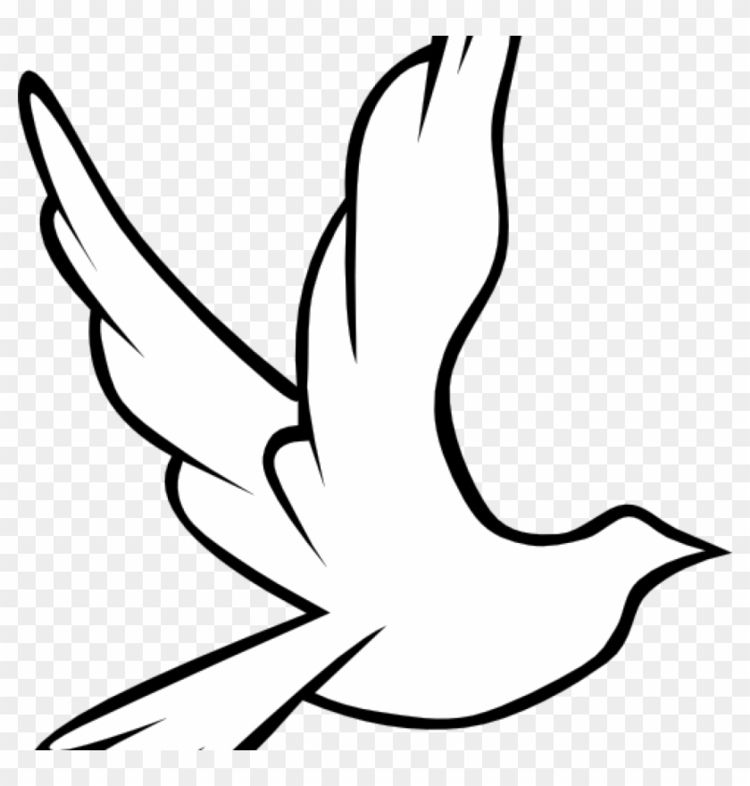 Dove Images Clip Art Christian Symbol Black Line Art Bird Flying