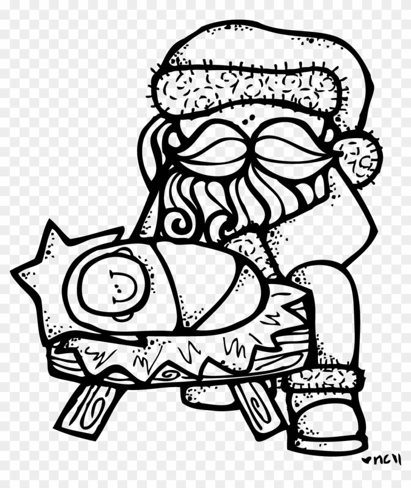 baby jesus clip art santa with baby jesus coloring page
