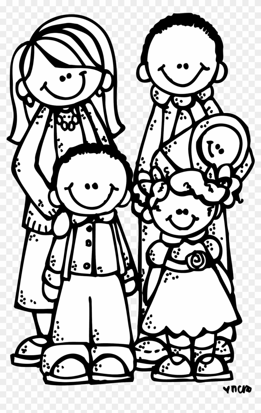 Melonheadz Lds Illustrating Primary Bible, Clip - Lds Family Clipart Black And White #208291