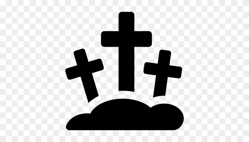Three Crosses Cemetery Vector Icono De Cementerio Png