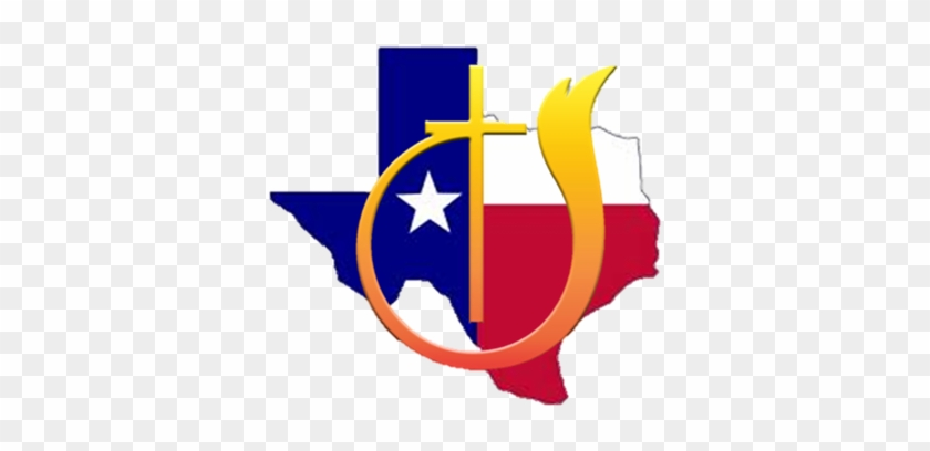 Church Of God Texas - State Of Texas Outline With Flag #208394