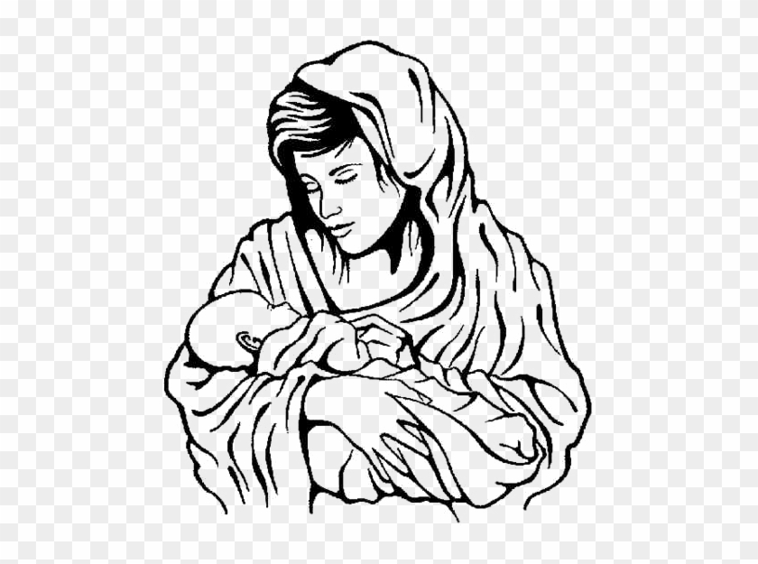 Mary And Baby Jesus Coloring Pages Mary And Baby Jesus Coloring