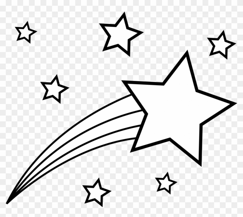 Shooting Star Coloring Page Clip Art Swirled Shooting - Shooting Star Coloring Pages #208875