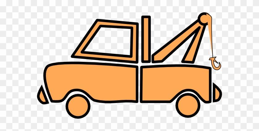 Flatbed Tow Truck Clip Art - Tow Truck Clip Art #209360