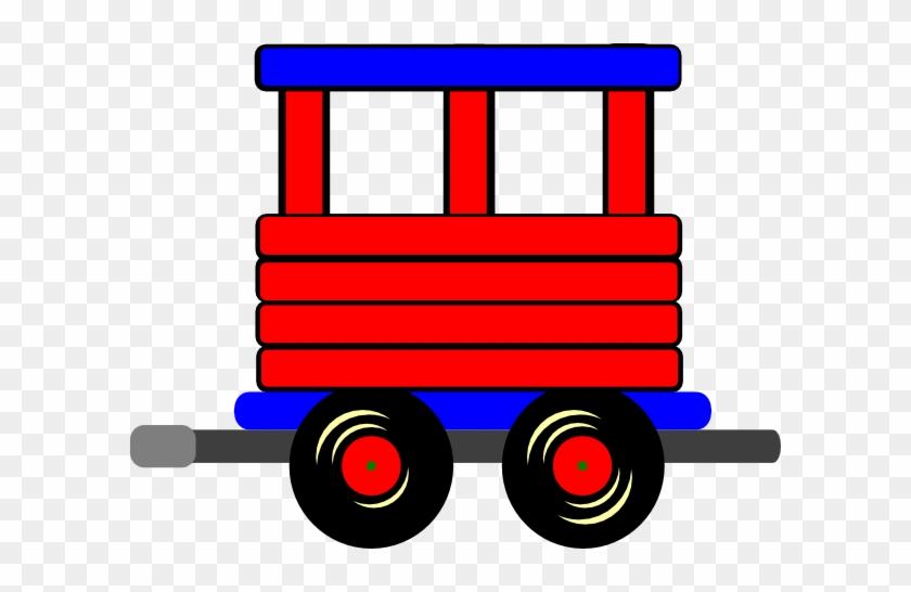 Loco Train Carriage Clip Art - Train Cart Clipart #209432