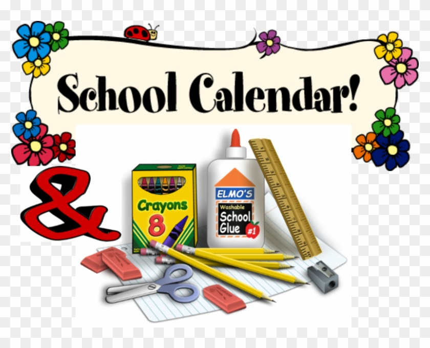School Calendar 2018 - School Supplies Transparent - Free