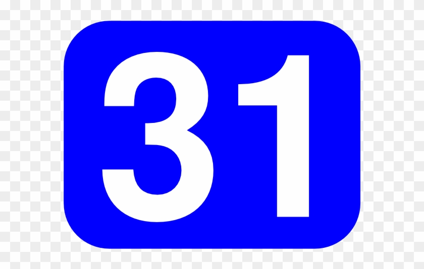 Free Vector Number 31 Clip Art - Number 31 #210032