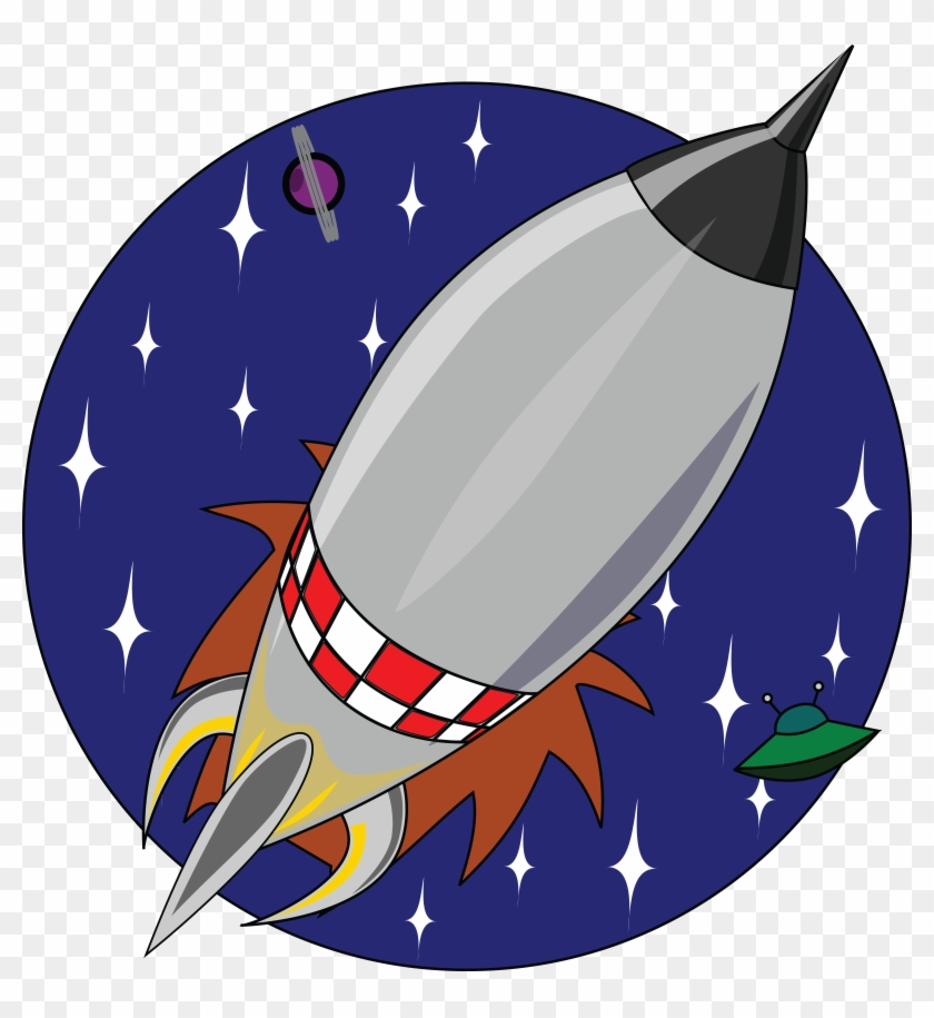 Free Clipart Of A Shuttle Rocket In A Circle - Big Book Of Raspberry Pi #210412