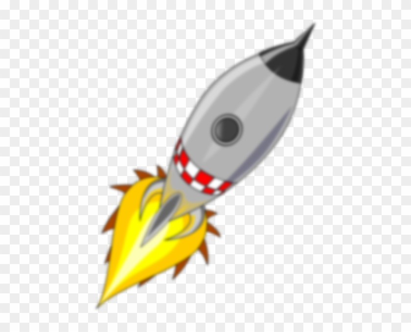 Rocket Clip Art - Spaceship Blasting Off Png #210548