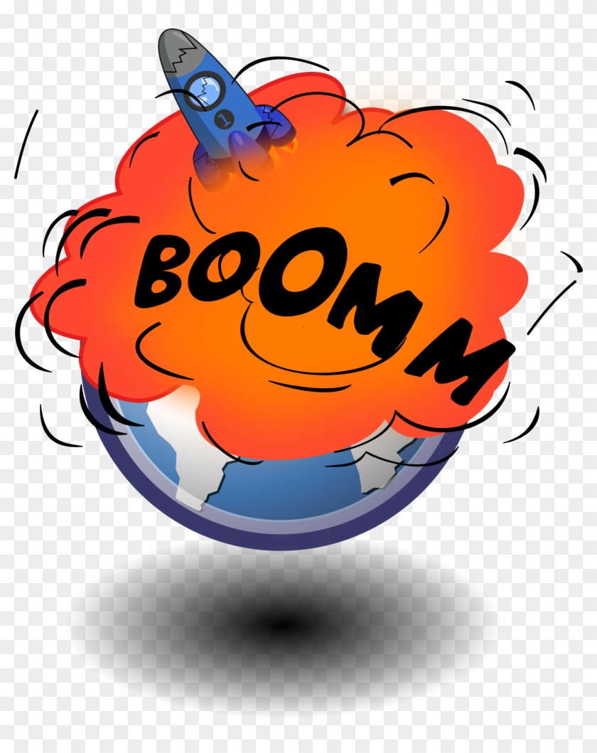Rocket Explosion Clipart - Earth Exploding Clip Art #210711