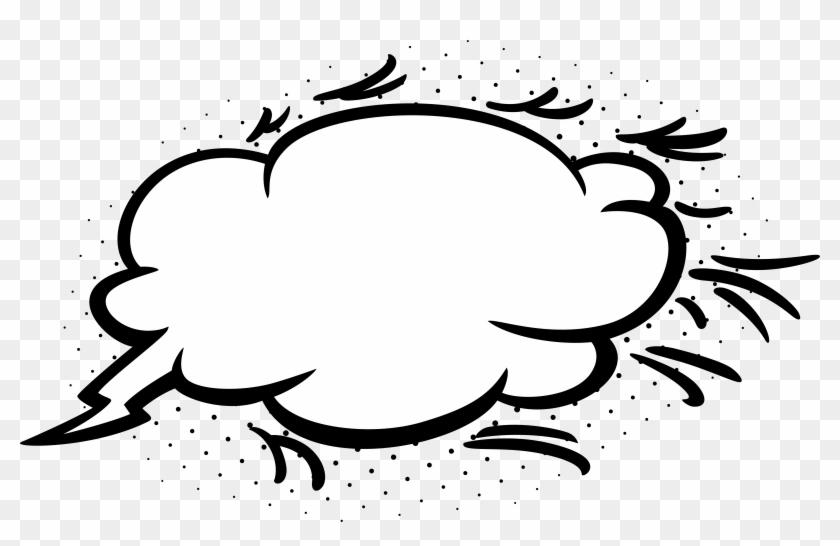 Empty Comic Bubbles Cloud Clipart Png Image Download - Comic Bubble Png #210831