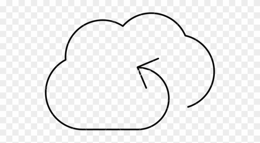 Sync Cloud Storage Outline - Cloud Storage - Free Transparent PNG