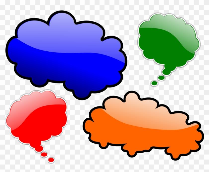 Wind Blowing Cloud Clipart, Vector Clip Art Online, - Speech Balloon #210872