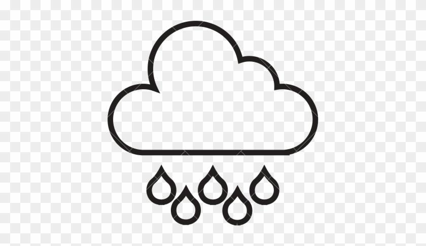 Cloud Outline - Cloud With Rain Outline - Free Transparent