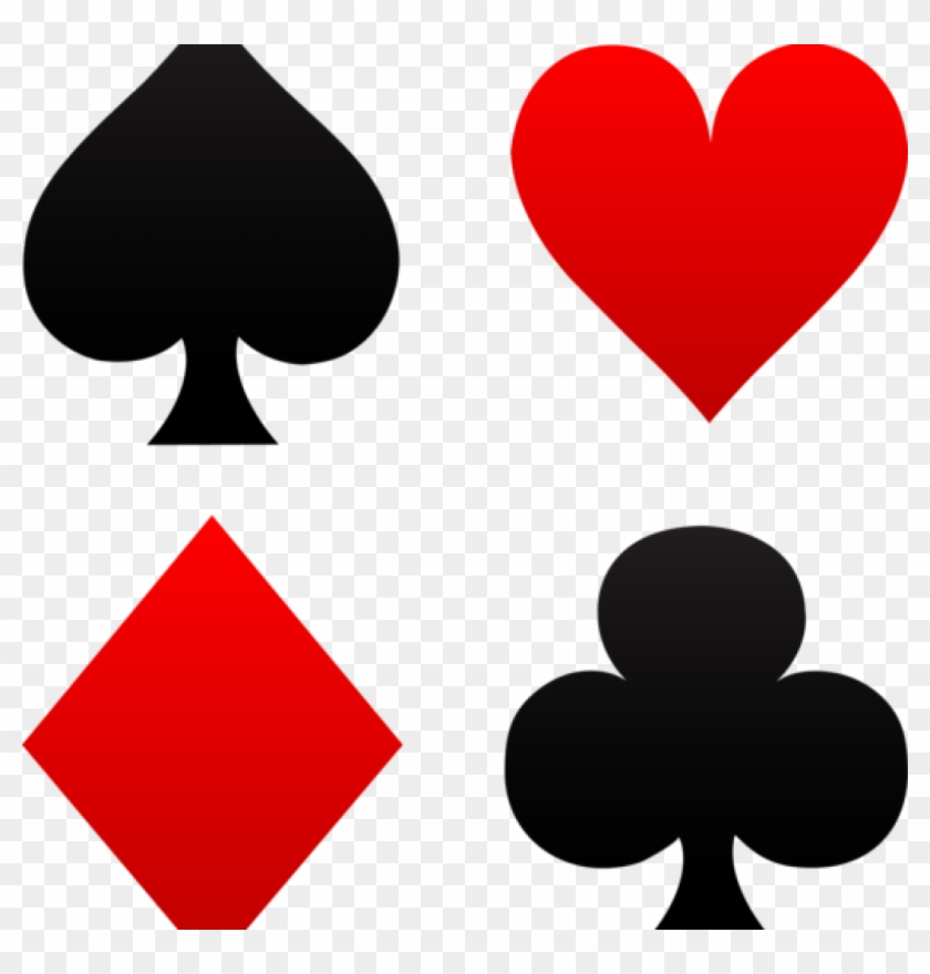 Cards Clipart Free Clip Art Of Red And Black Playing - Deck Of Cards Symbols #210955