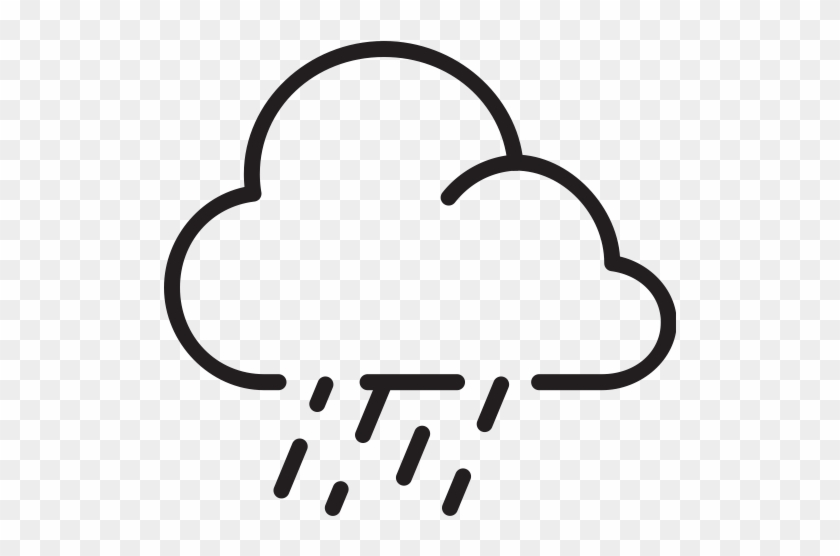 Cloud Fog Downpour Rain Downpour Weather Icon Wind Pictogram