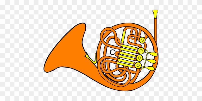 Trombone Horn Musical Instrument Brass Mus - French Horn Cartoon #211058