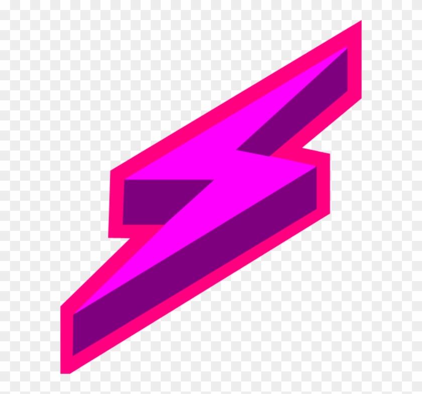 Red Lightning Bolt Clipart - Purple Lightning Bolt Transparent #211087