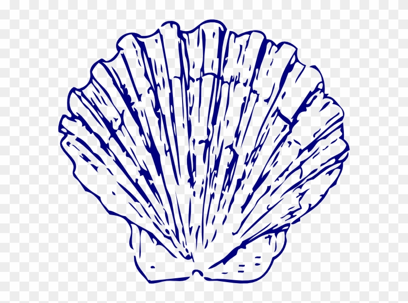 Dark Blue Sea Shell Svg Clip Arts 600 X 544 Px - Blue Sea Shell Clip Art #211093
