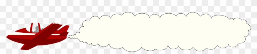 Smoke Cloud Clip Art - Smoke From Airplane Clipart #211332