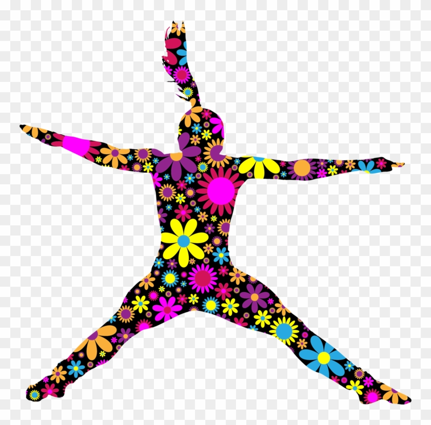 All Photo Png Clipart - Jumping Silhouette Girl Color #1341557