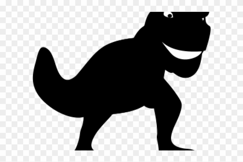 Dinosaurs Clipart Silhouette - T Rex Shadow Png - Free