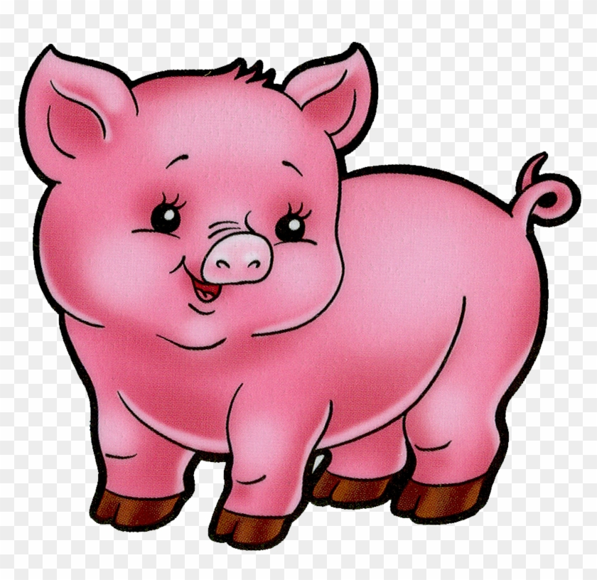 Pig Crafts, Pig Illustration, Cute Cartoon, Cartoon - Imagen En Caricatura De Un Cerdo #1341778
