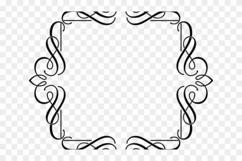 Decorative Border Clipart Fancy - Fancy Black Line Design Transparent #1341867