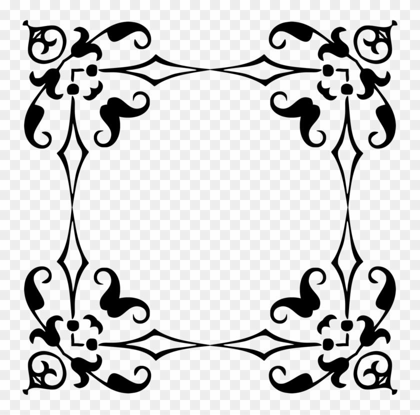 Floral Design Ornament Decorative Arts Picture Frames - Vintage Frame Border Vector #1342252