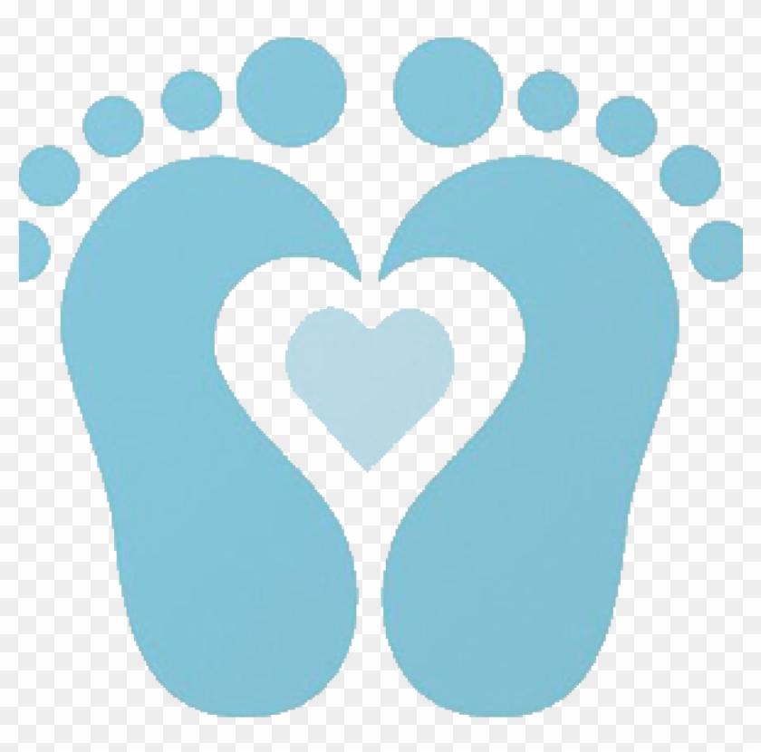 Baby Footprints Clipart Ba Footprint Clip Art Clipartsco - Baby Feet With Heart Clip Art #1342349