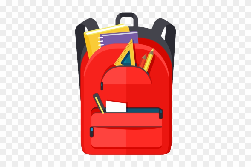 Backpack Filled With School Supplies - Notebook In The School Bag #1342391