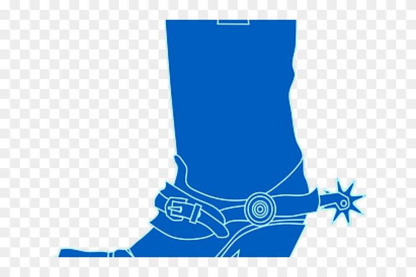 Footprint Clipart Cowboy Boot - Girl Cowboy Boots Clipart #1342602