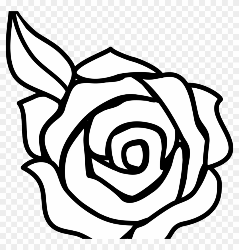 Flower Clipart Black And White Free Flower Black And Rose Drawing Easy Free Transparent Png Clipart Images Download