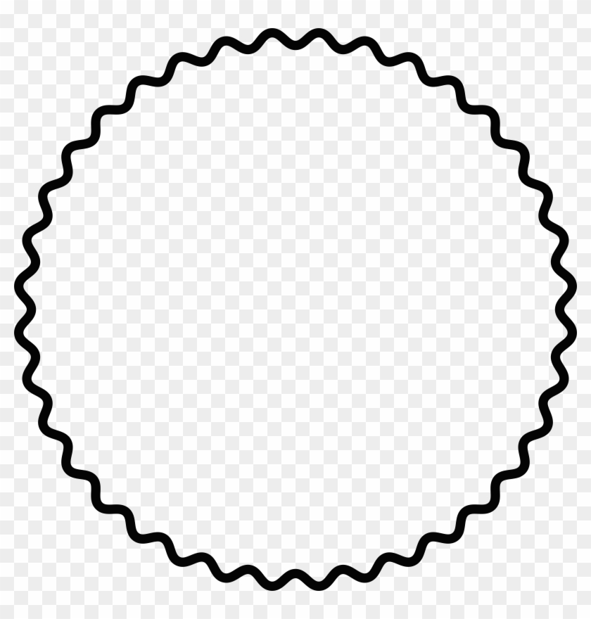 Frame Clipart Scallop - White Circle Scallop Png #1343214