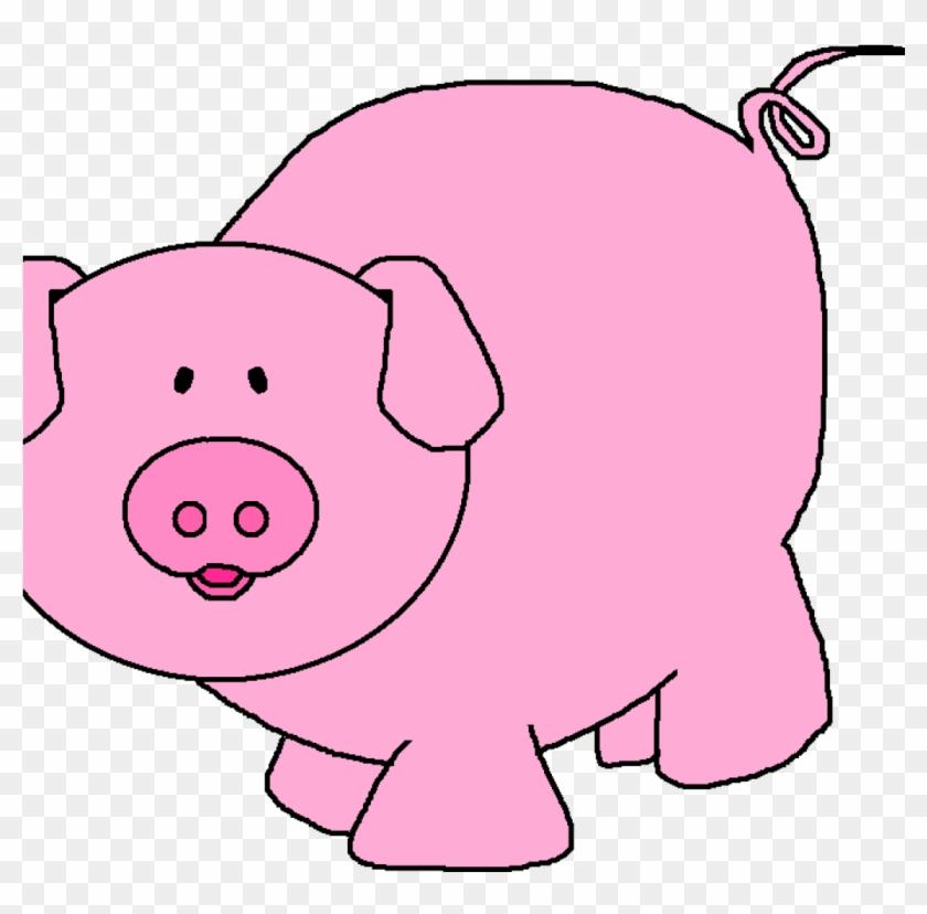 Pink Pig Clipart Pink Pig Clipart Pigs Cartoon Pig - Imagenes De Cerditos Animados #1344117