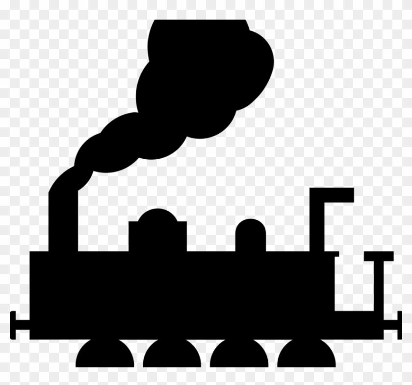 Train Rail Transport Track Steam Locomotive Computer - Train Clip Art #1344459
