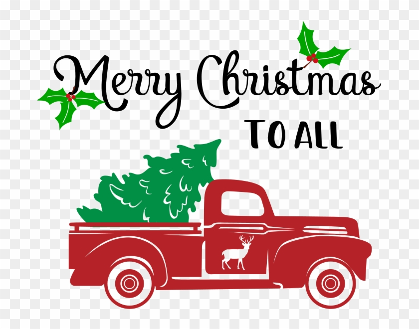 Learn How To Make A Rustic Burlap Diy Christmas Sign - Red Truck Christmas Tree #1344760
