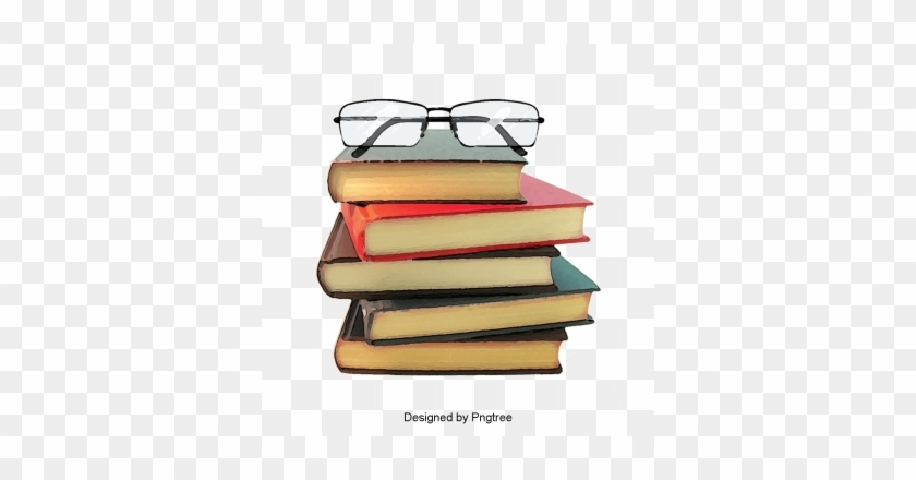 Glasses On A Pile Of Books, A Pile Of, Glasses, Open - English As A Second Language Reading Strategies #1345280