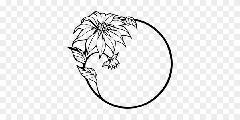 Flower Download Floral Design Line Art White - Sunflower Border Clip Art Black And White #1345656