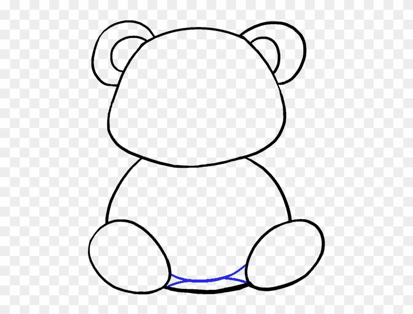 Drawing Textbooks Cartoon - Panda Drawing Easy Cute #1346030