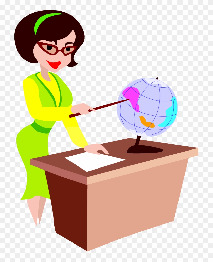 Free Teacher At Her Desk Clip Art Image From Free Clip - Art Education Gif Animation #1346110
