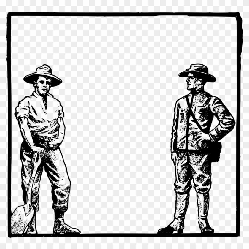 Art Frame Farmer Clipart Clip Art Frames Cowboy Borders Free