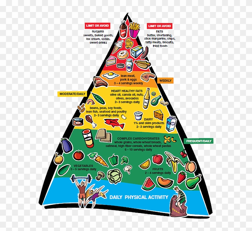 Above Image - Link - Http - //www - Wakemed - Org/body - Heart Healthy Food Pyramid #1346856