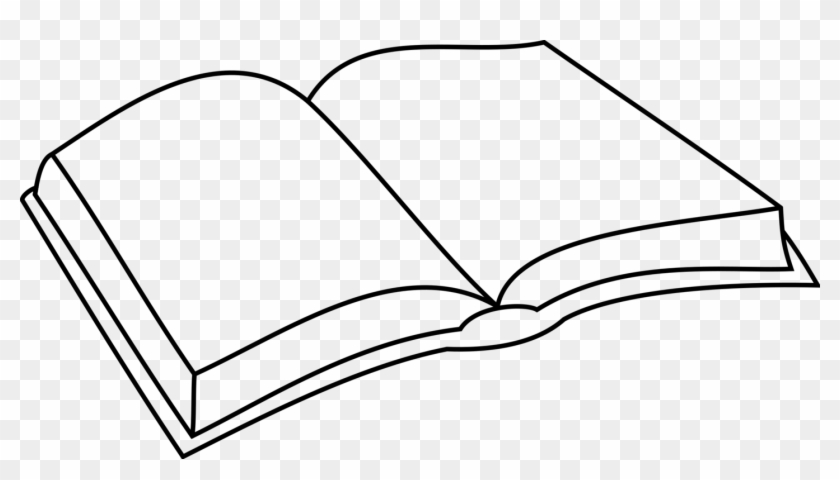 Coloring Book Download Line Art Drawing - Simple Open Book Drawing #1347142