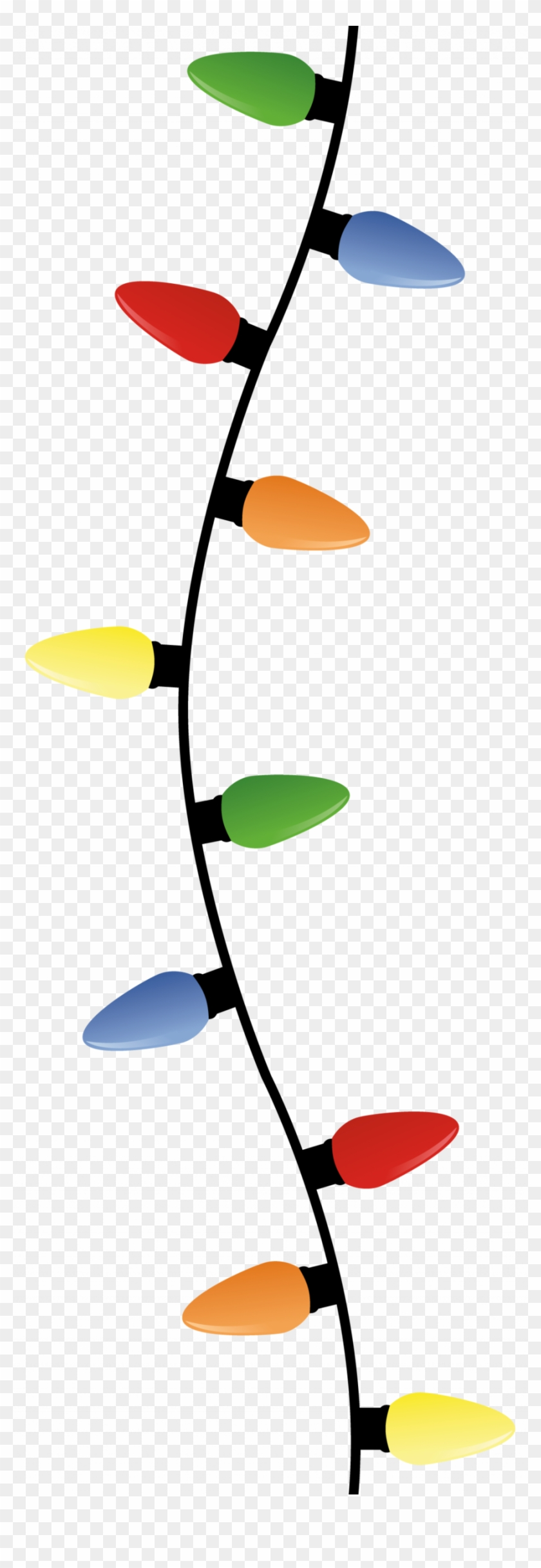 Christmas Light Bulbs Hanging Clipart Incandescent - Hanging Christmas Lights Transparent #1347807