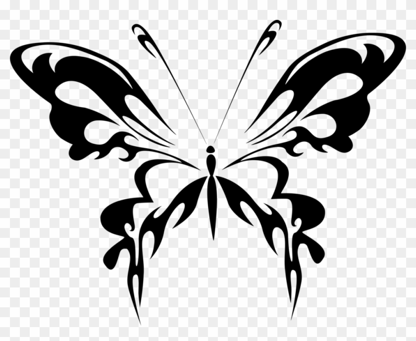 Butterfly Line Art Drawing Abstract Art Vektor Kupu Kupu Hitam Putih Free Transparent Png Clipart Images Download