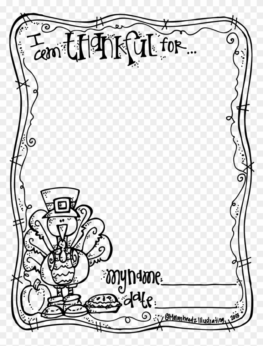 Thanksgiving Clipart Black And White Book Clipart - Thanksgiving Coloring Pages Thankful #1348002