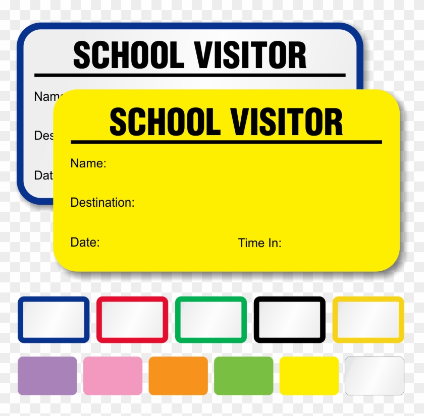 Visitor Template For School Clipart Label Sticker